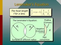 10 lensmaker s equation