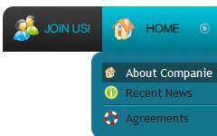 Online Menu Creator Website Templates With Xp Buttons Template