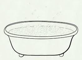 clip art black white bath tub at clker abbvvv bathtub clipart and free collection share