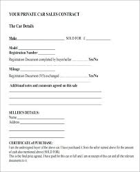 Sales Contract Simple Vehicle Purchase Agreement Template Dressieco