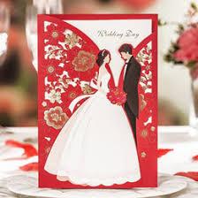 discount groom wedding invitation card 2017 groom bride wedding Bride And Groom Wedding Cards wholesale 20 pieces, classic red bride and groom wedding invitations cards, by wishmade, hp6218 bride and groom wedding bands