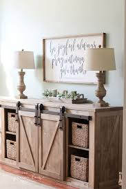 diy farmhouse media console table all the plans to make it yourself