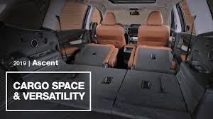 2019 subaru ascent cargo e and versatility