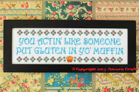Funny Cross Stitch Patterns Free Enchanting Gluten In Your Muffin Cross Stitch Pattern Ancora CraftsAncora Crafts