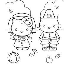 Christmas is super fun, but it can also be totally cute, especially when hello kitty is celebrating. Hello Kitty Thanksgiving Coloring Page Free Coloring Pages Online
