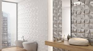 threedimensional tile adds texture and visual appeal to any bathroom the look is ideal for accent walls the tiles can be used on both interior bathroom trends 201775
