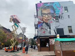 Design your everyday with rbg coffee mugs you'll love to add to your morning routine or at work. Ruth Bader Ginsburg Honored With Three Story Mural In The East Village Gothamist