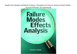 Analysis Templates Adorable Read Failure Modes And Effects Analysis Templates And Tools To Impro