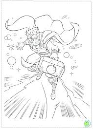 Avengers Coloring Pages Thor Coloring Page Free Printable Marvel