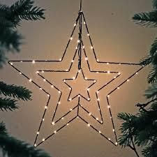 Weihnachtsstern ø 40 Cm Aus Draht Schwarz Mit 78 Led Warmweiß