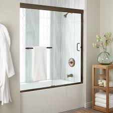 60 brackett sliding tub door oil rubbed bronze