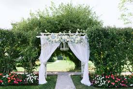 Wedding Arch Decorations Dreamy Wedding Arch With Blue And White Flowers