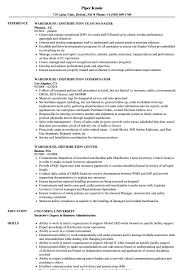 Warehouse Associate Resume Sample Warehouse Distribution Resume Samples Velvet Jobs 57