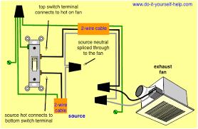 wiring diagram for a bathroom exhaust fan switch