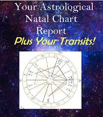 Your Astrological Birth Chart Plus Current Key Planetary Transits For The Next 12mths Typed Report