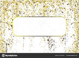 Gold And White Background Design Gold Glitter Confetti Texture With Plase For Text On A White