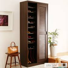 Shoe rack door storage cupboard