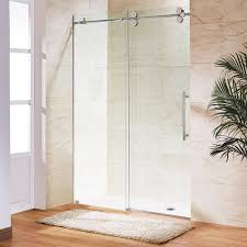 frameless bypass shower door in chrome with clear glass vg6041chcl6074 the home depot