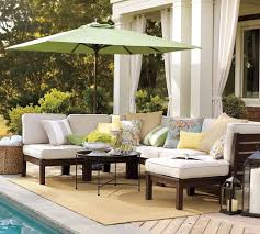 Modern Poolside Lounge Furniture With Cream Sofa Furniture Outdoor