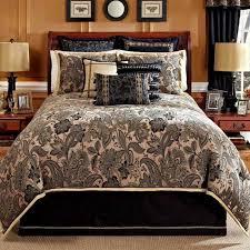 paisley comforter king 219 4pc veratex alamosa black set black and white paisley bedding