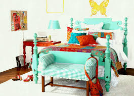 bohemian style furniture. Appealing Bohemian Style Furniture Decor For Your Interior Ideas: Light Blue Bedroom