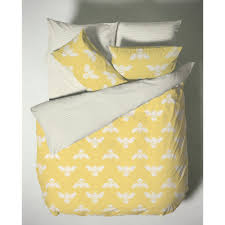 blebee yellow 200 thread count cotton duvet cover set
