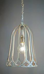 cottage style pendant lights shabby chic industrial metal bird cage chandelier white for mini full size