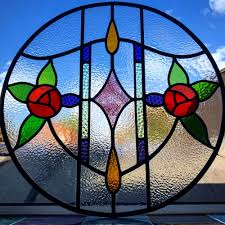 Glass Design Bespoke 1930s Art Nouveau Stained Glass Design Period Home