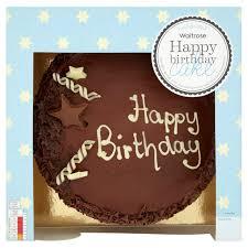 Waitrose Happy Birthday Chocolate Cake 18 Servings 12kg From Ocado