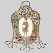 native american iroquois beaded picture