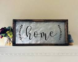 home sign decor etsy