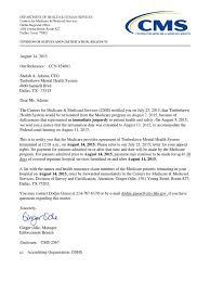 Cms Notifies Timberlawn Of Termination