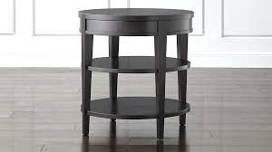 round bedside table round side table with drawer in end tables reviews household nightstand regarding 0