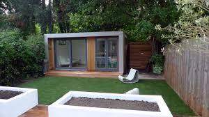 home office in garden. Summer House Office. Modern London Garden Fake Grass Decking Raised Beds Office O Home In I