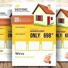 Moving Flyer Template Moving House Flyer Template Home Checklist Free Office We