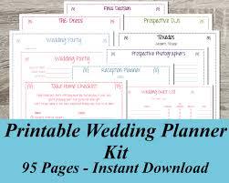 Chic Wedding Planner Book Ideas Free Printable Wedding Planner