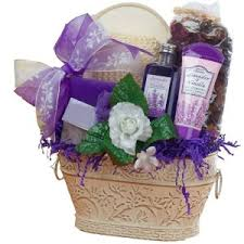 personal home spa treatment female birthday gifts renewal spa lavender gift basket