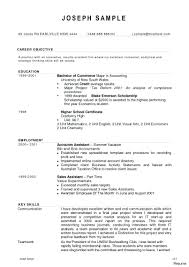 Accounting Resume Samples For Freshers In Jobs Sample Word Document