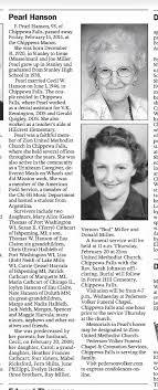 Pearl Miller Hanson obituary - Newspapers.com