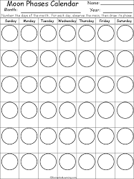 Phases Of The Moon Chart For Kids Moon Phase Calendar Template Moon Phase Calendar Moon