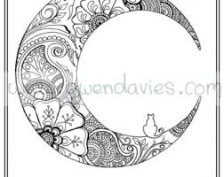 Small Picture Adult colouring in PDF download cat henna zen mandalas flower