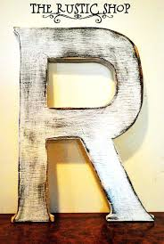 premium wooden letters decorative shabby chic rustic wooden large letter r distressed painted white tall wood