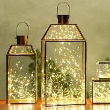 interior lantern lighting. Wrap Twinkle Lights In A Glass Lantern To Create Unique Light Fixture. Interior Lighting