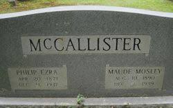 Maude Mosley McCallister (1890-1959) - Find A Grave Memorial