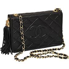 Chanel - CHANEL BLACK QUILTED BAG WITH TASSEL - Polyvore & Chanel - CHANEL BLACK QUILTED BAG WITH TASSEL Adamdwight.com
