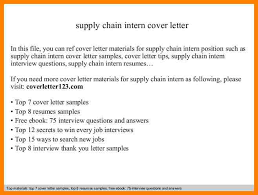 Supply Chain Cover Letter 6 Supply Chain Cover Letters Paige Sivierart