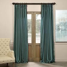 exclusive fabrics pea vintage faux textured dupioni silk curtain panel