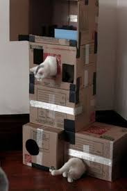 Diy cat playhouse Kittens Cat Playing Portal Wow Keep Looking At Commercial Cat Trees But Bet Theyd Like This Just As Well If Not Better Pinterest Cat Playing Portal Diy Crafts Pinterest Cats Cat Toys And Kittens
