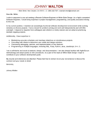 Sample Cover Letter For Software Engineer Entry Level Adriangatton Com