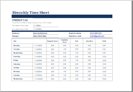 time sheet template excel biweekly time sheet with sick leave and vacation excel templates
